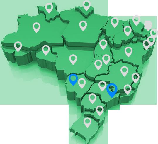 Mapa de atuação Exsergia